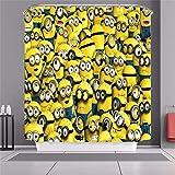 Lixiaofen Minions Cartoon Animal Yellow Creative Design Shower Curtain Waterproof and Opaque