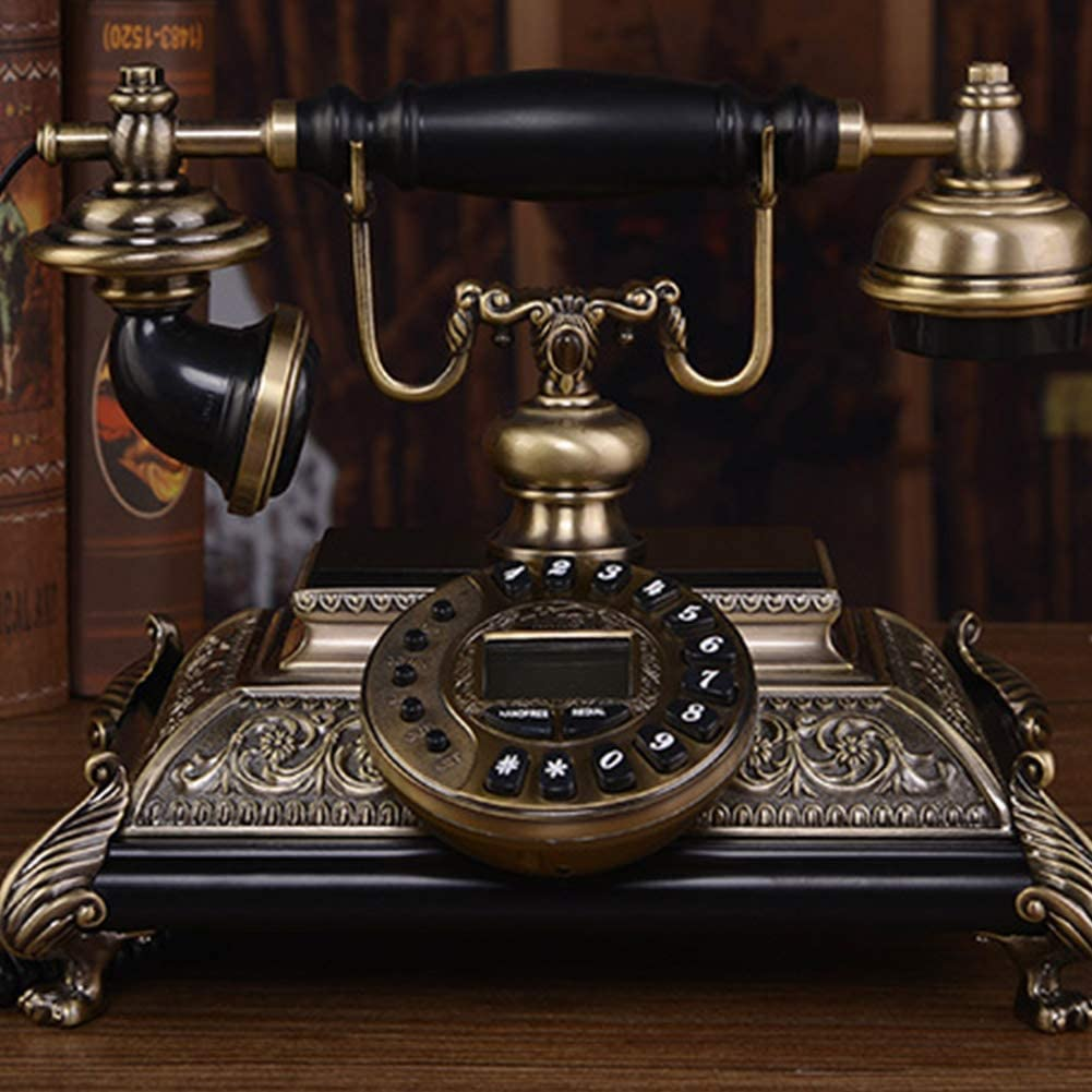Outlet SALE AIBAB Home Retro Landline Antique Wood Telephone Solid Be Crafts Cheap mail order shopping