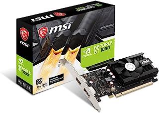 MSI GeForce GT 1030 DirectX 12 2GB 64-Bit DDR4 PCI Express 3.0 x16 HDCP Ready Video Card Model GT 1030 2GD4 LP OC