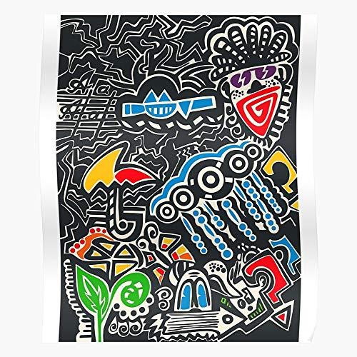 Zaldini Jean Basquiat Samo Neo Expressionism Culture Hip Hop Child Wild Michel Graffiti Das eindrucksvollste und stilvollste Poster für Innendekoration, das derzeit erhältlich ist