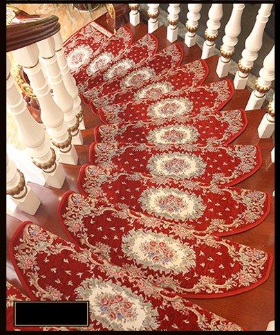 GUORONG Autoadesivo Scale Carpet Solidi Domestici di Legno Scala Passo Pad Camera di tappeti Antiscivolo Facile da Pulire, Antiscivolo Resistente all'usur (Dimensioni : 24 * 80cm)