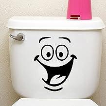 Toilet Smiley Gezicht Decal Grappige Badkamer Keuken Muurstickers Toilet Seat Decal Muur Art DIY Muurschildering Decor