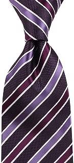 Elegant Men's Casual Fashion Tie Striped Pattern Tie for Work, Dating, Wedding, 145 × 8cm CQQO (Color : E)