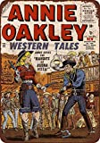 Yilooom 1956 Annie Oakley Western Tales Comic Reproduction Metal Sign 8 X 12