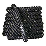 Display4top Cuerda de Batalla Battle Rope - Ancho de 38mm Poly Dacron 9m / 12m / 15m Longitud Ejercicio Cuerdas de Undulación (38mm * 9m)
