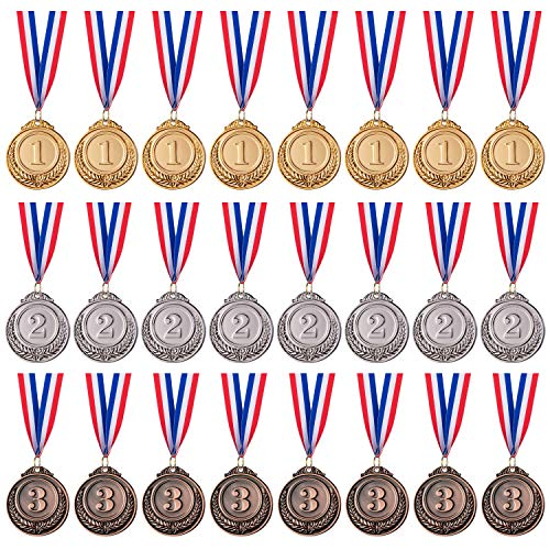 6x Olympic Gold Winners Medals Plastic Games Toy Prizes Gifts for Kids Children