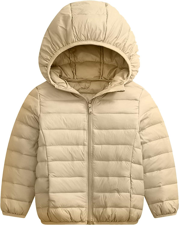 BOFETA Kids Winter Hooded Lightweight Puffer Jackets Outwear Warm Packable Jackets