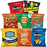 40 single serve favorites - Doritos Nacho Cheese, Doritos Cool Ranch, Lay's Sour Cream & Onion, Rold Gold Tiny Twists, Smartfood White Cheddar Popcorn, Cheetos Crunchy, Cheetos Puffs, and Sunchips Harvest Cheddar With eight different varieties, there...