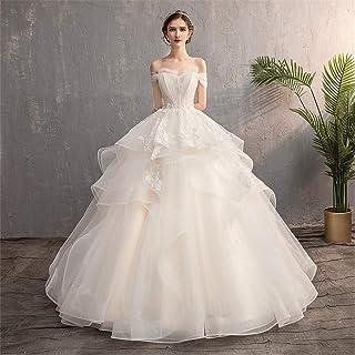 Snygg enkelhet kvinnors bröllopsklänningar V-ringad axellängd bröllopsklänning spets långärmad golvlängd lång bröllopsklän...