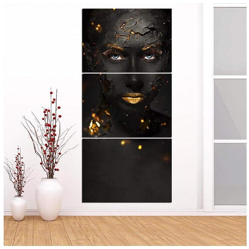 政権キャップ職業Opqasp Poster Canvas Painting Modular Pictures Hd Printed 3 Pieces African Black Woman Poster For Bedroom Frame Wall Artwork Home Decoration 30*50Cm*3Pcs