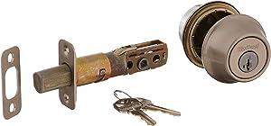 kwikset 665-15S Double Cylinder Deadbolt Smart Key, Satin Nickel