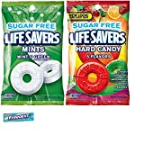 Life Savers Sugar Free Wrapped Hard Candy Combo. Life Savers Wint-O-Green Mints and 5 Flavors Sugar Free Candy Bags Plus 5. Piece Gum Sample. Convenient One-Stop Shopping. Easy to Buy With 1 Click.