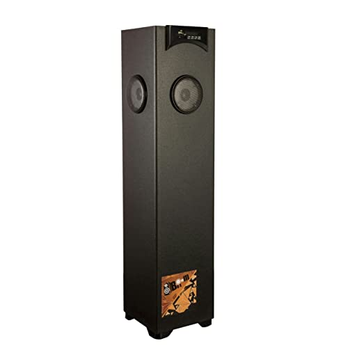 Flow Boom Box Floor Standing Tower Speaker with 5.25inch Woofer 2.5Feet Height (Black)