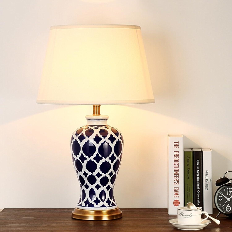 Tischlampe keramik tischlampe schlafzimmer nachttischlampe klassische klassische klassische nachttischlampe wohnzimmer lichter A B077P2BYSR     | Verkauf  ebffba