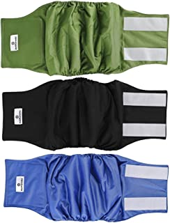 Pet Parents Premium Washable Dog Belly Bands (3pack) of Male Dog Diapers, Dog Marking Male Dog Wraps, High Absorbing Belly...