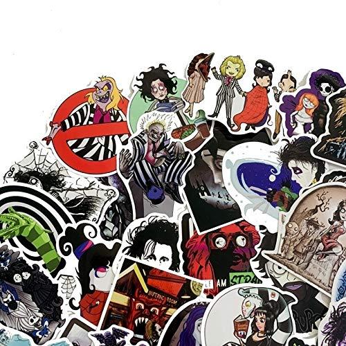 WOKAO Tim Burton ist Regisseur der Filmreihe Doodle Cartoon Comic Notebook Autokühlschrank Waterproof Sticker 50PCS