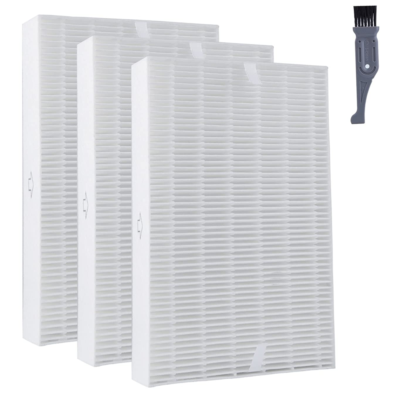 I clean Honeywell Filter R HEPA Replacement Filter - 3 Pack, HRF-R3 Air Purifier HEPA Filter