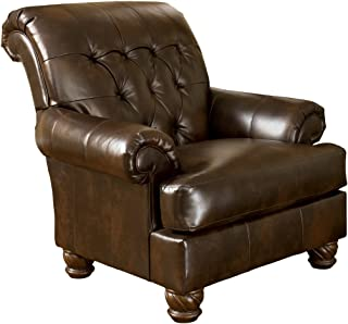 Ashley Furniture Signature Design - Fresco Accent Chair - Tufted Back - Grand Elegance - Antique Brown