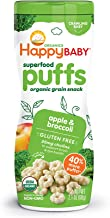 Happy Baby Organic Superfood Puffs, Apple & Broccoli, 2.1 Ounce (Pack of 6)