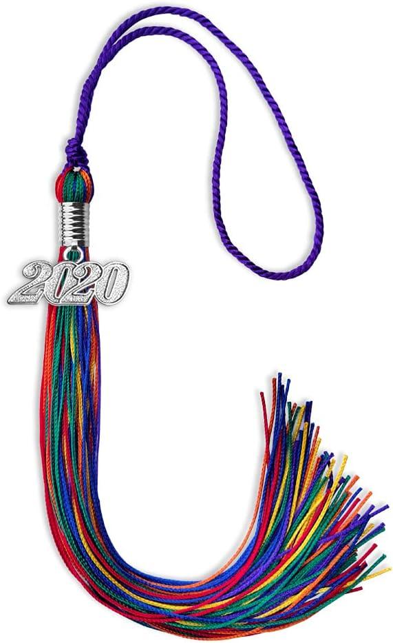 Endea 2021 model Graduation Double Color Tassel Drop Rain Silver with National uniform free shipping Date