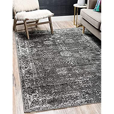 Unique Loom Sofia Traditional Area Rug, 5' 0 x 8' 0, Dark Gray