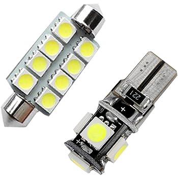 Muchkey LED Auto Lampadina Canbus Sensa Errore LED luci dellautomobile Bulb per Octavia 2015 LED per la Luce Interna Dellauto Bianco 5 Pezzi