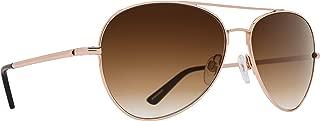 Spy Optics Whistler Aviator Sunglasses, Rose Gold/Happy Bronze Fade, 1.5 mm