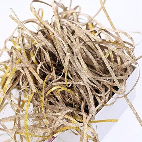Xinger kleurrijke versnipperde glitter papieren snoepdozen geschenkdoos vulmateriaal tissuepartij geschenkverpakkingen vul decor 50g, goud