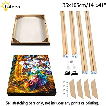 WITUSE Wood Stretcher Bars Painting Canvas Wooden Frame for Gallery Wrap Oil Painting,Needlepoint Arts Stretcher Bars DIY,Canvas Mounting Frames,8x16