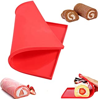 Fyuan Silicone Swiss Roll Mat Multifunctional Non Stick Cake Baking Pizza Pastry Pad Tray Tools