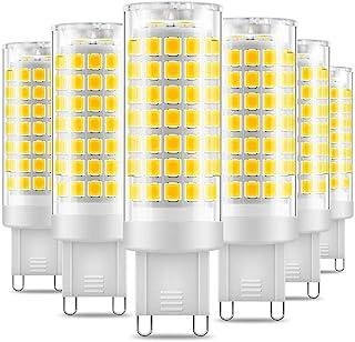 Eterbiz Bombilla LED G9, sin parpadeo, 7 W, equivalente a 60 W, 650 lm, luz blanca diurna (6000 K), bombillas G9 de ahorro de energía no regulables, paquete de 6