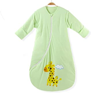 EsTong Baby Infant Cotton Blankets Sleeper Gowns Toddler Wearable Blankets Long Sleeves Warm Sleeping Bags Sack
