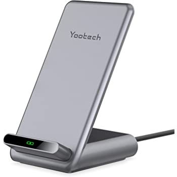 Yootech 7.5W/10W/15W Fast Wireless Charger,7.5W Wireless Charging Stand Compatible with iPhone SE 2020/11/11 Pro/11 Pro Max/XS,15W for LG V30/V35,10W for Galaxy S20/S10,Pixel 3/4XL(No AC Adapter)