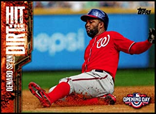 2015 Topps Opening Day Hit The Dirt #HTD-14 Denard Span NM-MT Washington Nationals Official MLB Trading Card