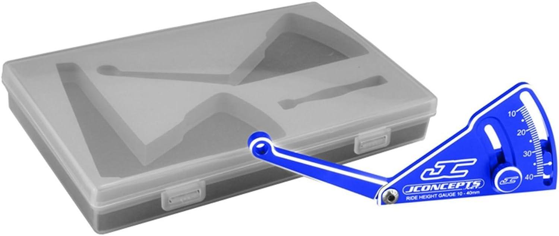 JConcepts - Aluminum ride height gauge, 10-40mm - Blau
