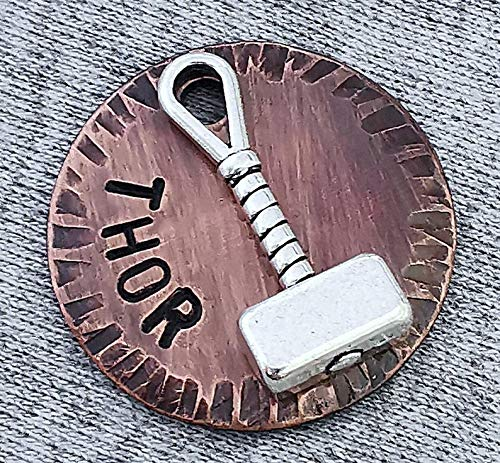 Thor Hammer Dog Tag, Pet ID Tag, Personalized Dog Tag for Dogs