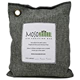MOSO NATURAL Air Purifying Bag 600g. Home Air Purifier, Odor Eliminator, Odor Absorber for Kitchen, Bedroom, Basement. Charcoal Color
