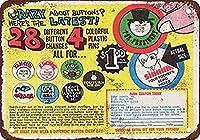 コレクターウォールアート1968材料用28ボタン鉄ポスター絵画ティンサインヴィンテージ壁の装飾カフェバーパブホームビール装飾工芸品