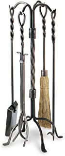 Pilgrim Home and Hearth 18009 31-Inch Twisted Rope Fireplace Tool Set, H/23 lb, Vintage Iron
