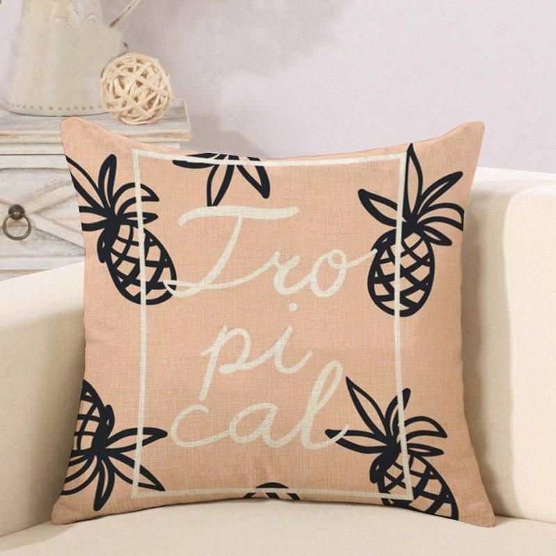 宝は家の柔らかい装飾のオフィスのパイナップルのソファーの枕カバーの正方形の模造麻の枕カバー車のクッションの卸売のパイナップル -  OK(枕の芯なしで)45 * 45 cm