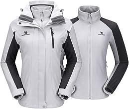 CAMEL CROWN Dames 3-in-1 ski-jack met fleece jas waterdicht winddicht warm winterjas dubbele jas outdoor regenjas function...