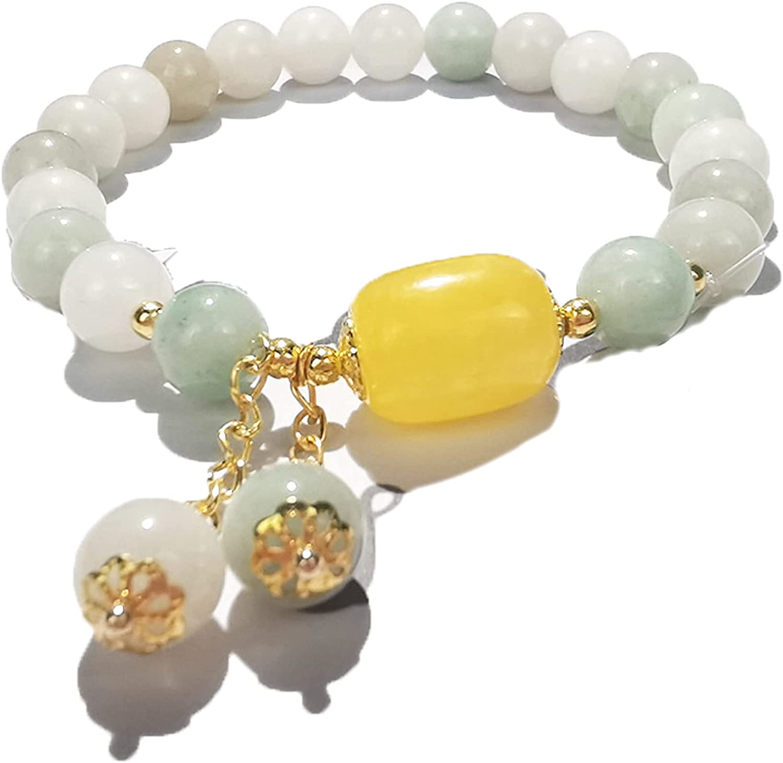 Citrine Agate Bracelet Handmade Bracelet with Pendant Relieving