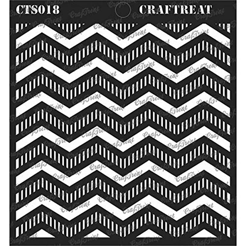 CrafTreat Stencil - Striped Chevrons | Reusable Painting Template for Journal, Notebook, Home Decor, Crafting, DIY Albums, Scrapbook and Printing on Paper, Floor, Wall, Tile, Fabric, Wood 6