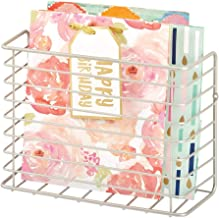 mDesign Metal Wire Farmhouse Wall Mount Craft, Sewing, Crochet Storage Bin Basket - Compact Organizer and Holder for Sketc...
