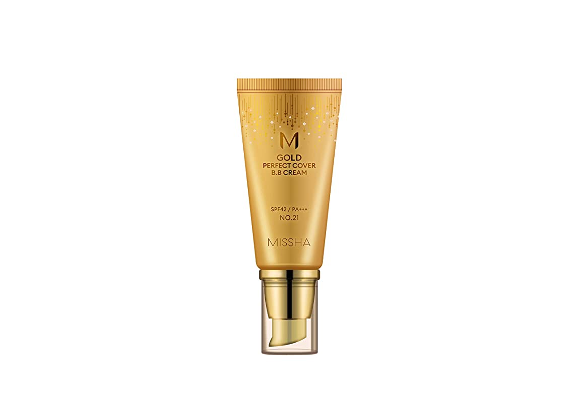 君主制忘れっぽい退却【ミシャ.missha] MゴールドパーフェクトカバーBBクリーム(#21,50ML)ナチュラルベージュ)SPF42/ PA+++/ M GOLD PERFECT COVER BB CREAM