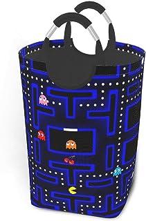 Liumt Retro Arcade 22,7 Pouces de Haut Grand Panier de Rangement, Panier de Rangement Pliable en Tissu de Toile