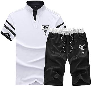 طقم ثوب رياضي رجالي بأكمام قصيرة من قطعتين من Comaba