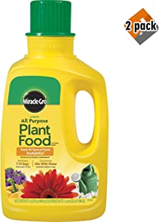 Miracle-GRO 1001502 Liquid All Purpose Plant Food Concentrate, 12-4-8, 32-Ounce Bottle (2-Pack (32 Oz))