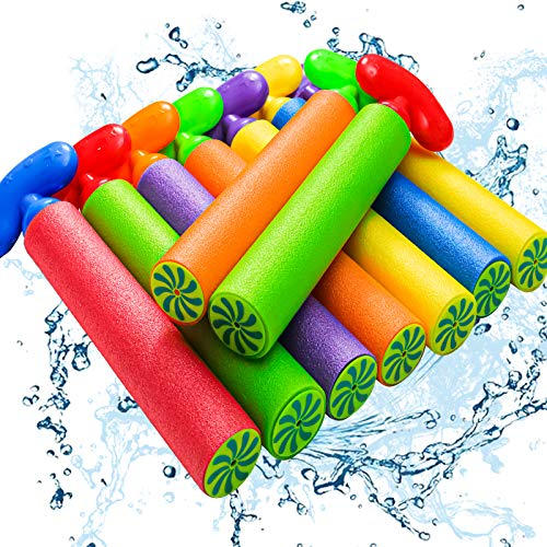 Kidcia Water Gun, 9 PCS Pool Toys,Water Cannon for Kids with arc Handle, 35FT Long Shooting Range Length Squirt Gun for Adults&Kids&Boys&Girls, Blaster Foam Shooter Set Pool Toys in Pool Summer Beach