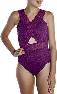 Body Feminino Rendado Sem Bojo Com Decote Linha Única Nayane Rodrigues Ref. BD4142